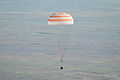 Soyuz TMA-20 capsule descends toward landing.jpg
