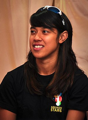 1998 Asian Games medal table - Nicol David of Malaysia won a gold medal in women's singles squash.