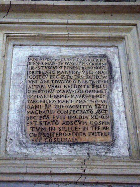 Fil: Ss Luca e Martina - 1256 consacrazione di Alessandro IV 1250618.jpg