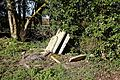Ss Peter and Thomas' Church, Stambourne, Essex - churchyard removed stacked gravestones 02.jpg