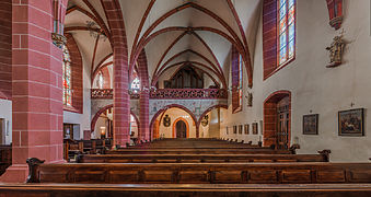 St. Peter und Paul, Eltville, Nave seen from Choir 20140902 1.jpg