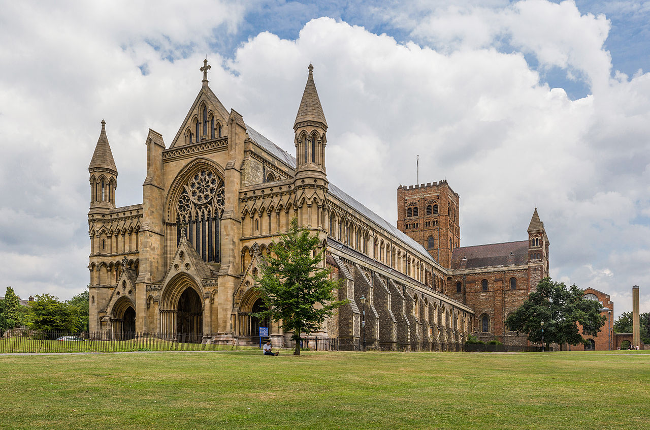 File St Albans Cathedral Exterior From West Herfordshire