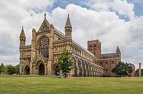 St Albans Cathedral Exterior from west, Herfordshire, UK - Diliff.jpg