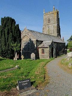 Milton Abbot village in Devon, England