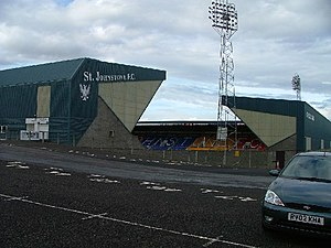 McDiarmid Park - A view of McDiarmid Park from the car park, looking north-east