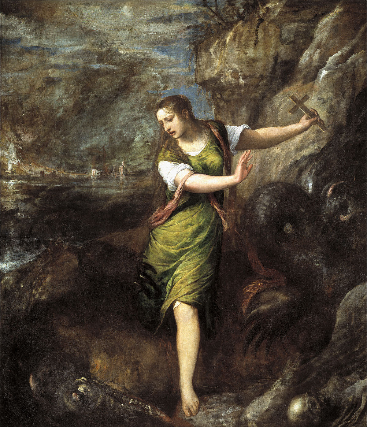 St Margaret and the Dragon (Titian) - Wikipedia
