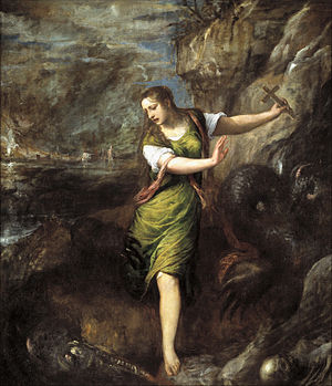 St Margaret and the Dragon (Titian) - Image: St margaret museo del prado madrid