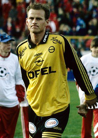 Ståle Solbakken - Solbakken playing for Lillestrøm in 1996