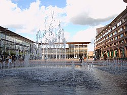 fountain at Stadshart, a shopping mall at the center of Amstelveen