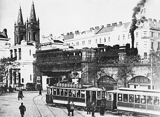 Wiener Stadtbahn - Before electric cars, ca. 1910