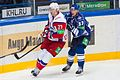 Staffan Kronwall and Mika Pyörälä 2012-09-08 Amur—Lokomotiv KHL-game.jpeg