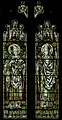 Stained glass window, St George's church, Brede (16043533097).jpg