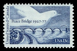 Peace Bridge - US Peace Bridge stamp