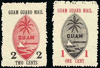 Mail pouch - Guam mail stamps