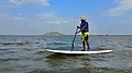 Standup Paddle or Paddling in Lake Maduranthakam,Cities and towns in Kanchipuram district.jpg