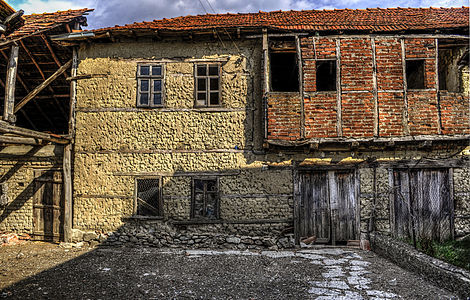 Traditional architecture from the village Drslajca, Macedonia