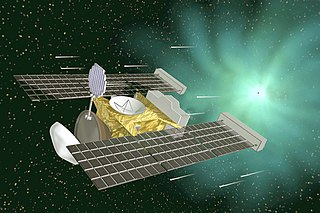 <i>Stardust</i> (spacecraft) Fourth mission of the Discovery program; sample return from the periodic comet Wild 2