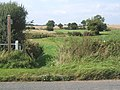 Start of footpath from B1078 with routes to Ringshall and Great Bricett - geograph.org.uk - 968319.jpg