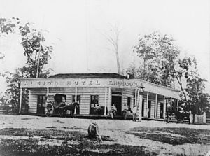 Albion, Queensland - Albion Hotel, Brisbane, ca. 1866, from which the suburb of Albion takes its name