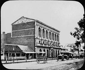 Town of Brisbane - Brisbane's first Town Hall, ca. 1870