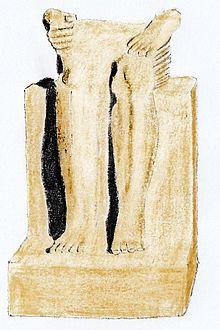 Siddende statue af Mentuhotep I fra Elephantine, nu i Kairo