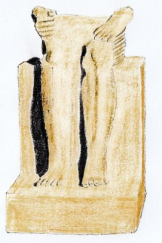 Mentuhotep I - Sitting statue of Mentuhotep I from Elephantine, now in Cairo