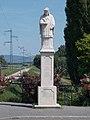 Statue of John of Nepomuk by András Juhász, Zagyva Bridge, 2017 Hatvan.jpg