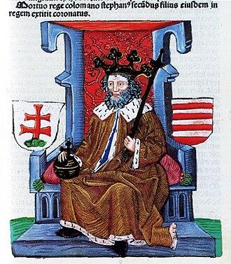 Ban of Croatia - Image: Stefan II węgierski