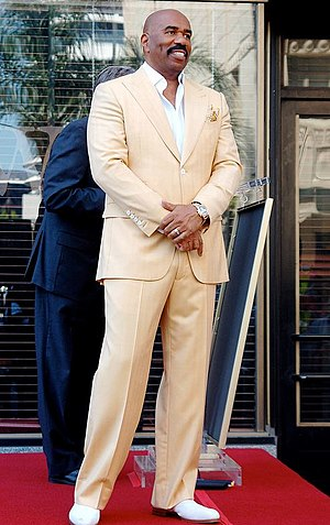 Steve Harvey - Harvey receiving his star on the Hollywood Walk of Fame in 2013
