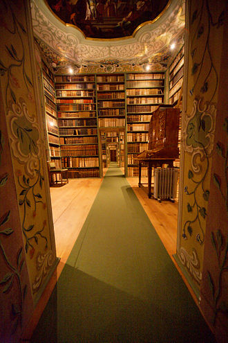 St Peter's Abbey, Salzburg - Library