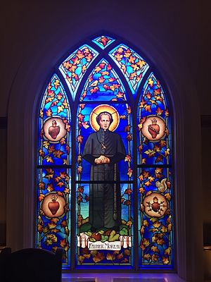 Basil Moreau - Basil Moreau in a stained glass window in Stinson-Remick hall at the University of Notre Dame