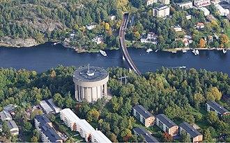 Stocksundet - Image: Stocksundet Bergshamra vattentorn