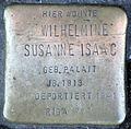 Stolperstein-Wilhelmine Susanne Isaac geb. Palait-koeln-cc-by-denis-apel.jpg