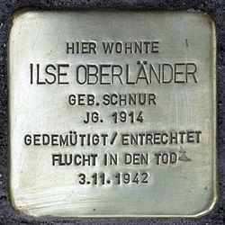 Stolperstein.wilmersdorf.hohenzollerndamm 4.ilse oberländer.4881