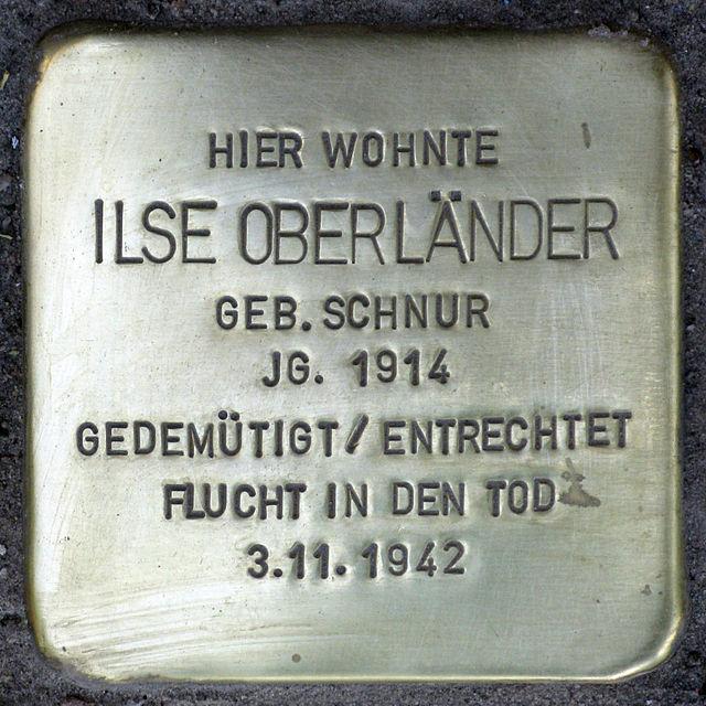 Photo of Ilse Oberländer brass plaque