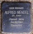 Stolperstein Arnstadt Ried 7-Alfred Mendel.JPG