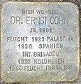 Stolperstein Dr. Ernst Cohn.JPG