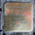 Stolperstein Goch Voßstraße 5 Arthur Bruckmann.JPG