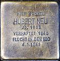 Stolperstein Köln, Hubert Neu (Alexianerstraße 12).jpg