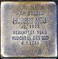Stumbling block for Hubert Neu (Alexianerstraße 12)