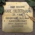 Stolperstein Pariser Str 11 (Wilmd) Karl Silbermann.jpg