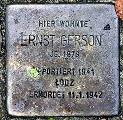 Photo of Ernst Gerson brass plaque