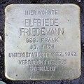 Stolperstein Stierstr 19 (Fried) Elfriede Friedemann.jpg