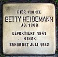 Stolperstein Verden - Betty Heidemann (1889).jpg