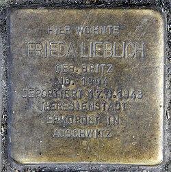 Photo of Frieda Lieblich brass plaque