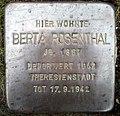 Stolpersteine Dortmund Sölder Kirchweg 27 Berta Rosenthal.jpg