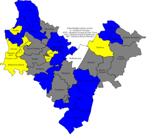 Stratford-on-Avon District Council elections - Image: Stratford avon 2006 election map