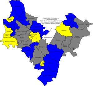 Stratford-on-Avon District Council elections - Image: Stratford avon 2010 election map