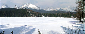 Štrbské pleso - Frozen over for 155 days a year