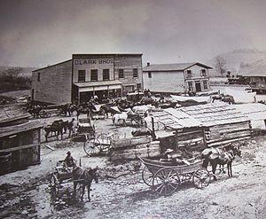 Stuart, Virginia - Stuart Train Depot, ca 1895